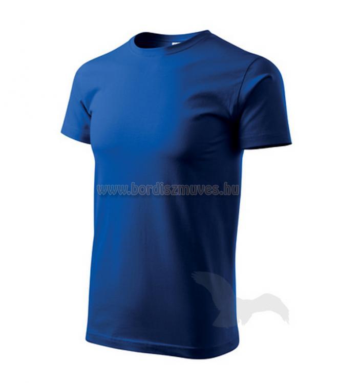Királykék kereknyakú póló, akár XXXXXL 5 XL méretben is, EXTRA méretben, igény e