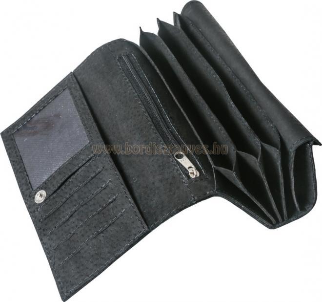 Egyedi, sok  rekeszes, brifkó, briftasni, valódi bőrtárca 1 fémpénz tartó