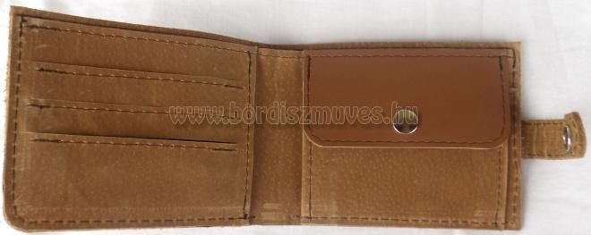 Bőr pénztárca belső rész, külseje ŐZ mintás
