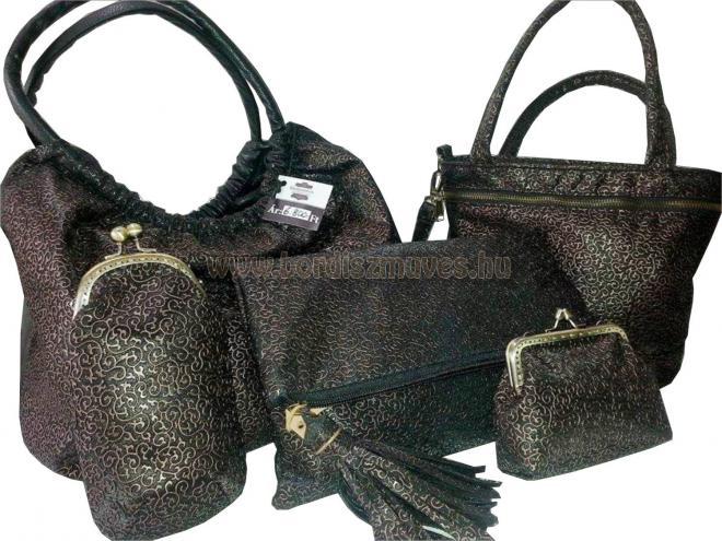 Textilbőr női váll táska, kézi táska, női borítéktáska, keretes szemüvegtok