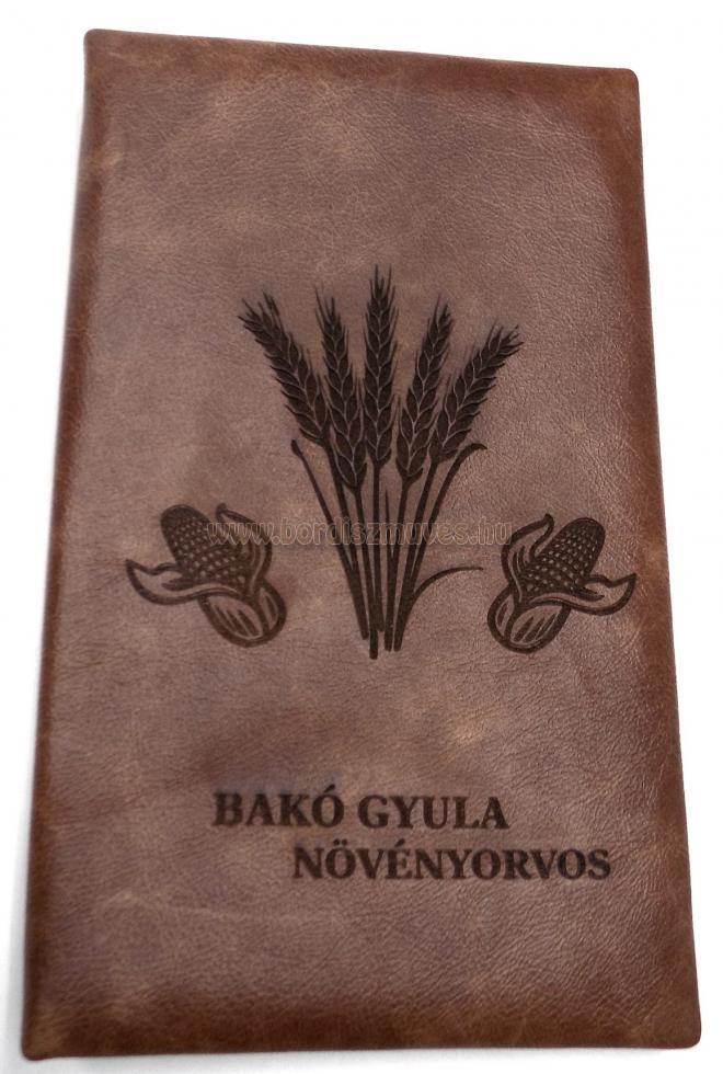 Egyedi, névre szóló növényorvosi bőr recepttartó
