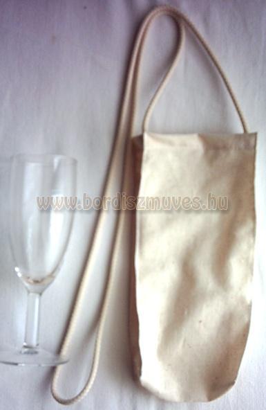 Pohár, borospohár tartó zsák, táska, tasak, tarisznya, nyakba akasztható kivitel