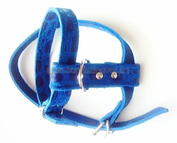 SugoDog®, csivava, egyedi, méretre készített,  nyomott marhabőr kutyahám