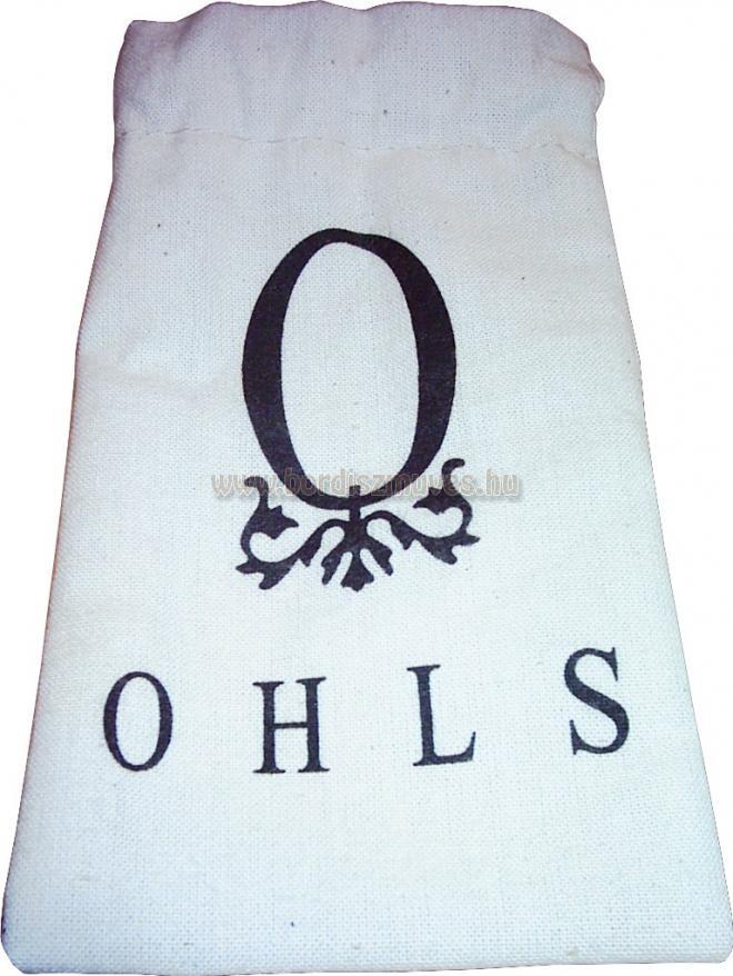 Szitázott, behúzó zsinóros vászon zacskó gyártása készítése tetszőleges méretben