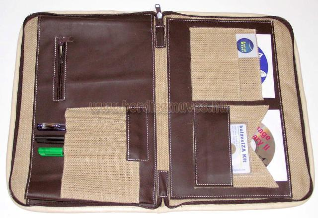 Sok részes, irattartó, iratrendező mappa, A/4 méretű, kombinált anyagú (bőr, tex