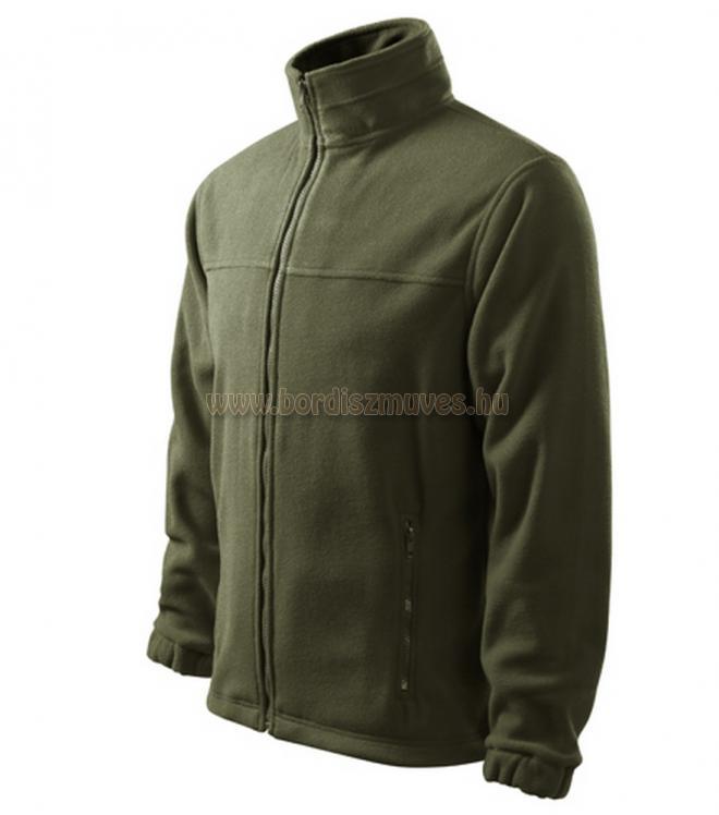 Military vadász zöld galléros vastag polár pulóver