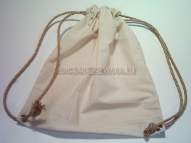 Natúr vászon hátizsák, háti táska, vászonzsák, hátizsák, tornazsák lenvászonból