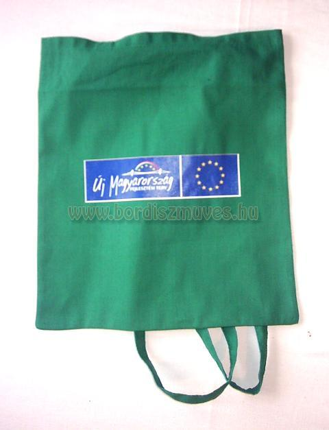 Textilből, lenvászonból, vászonból, molinóból készült táskák gyártása rövid fogó