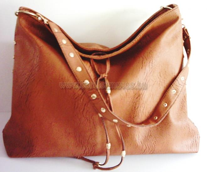 Vehrdesign barna textilbőr női válltáska