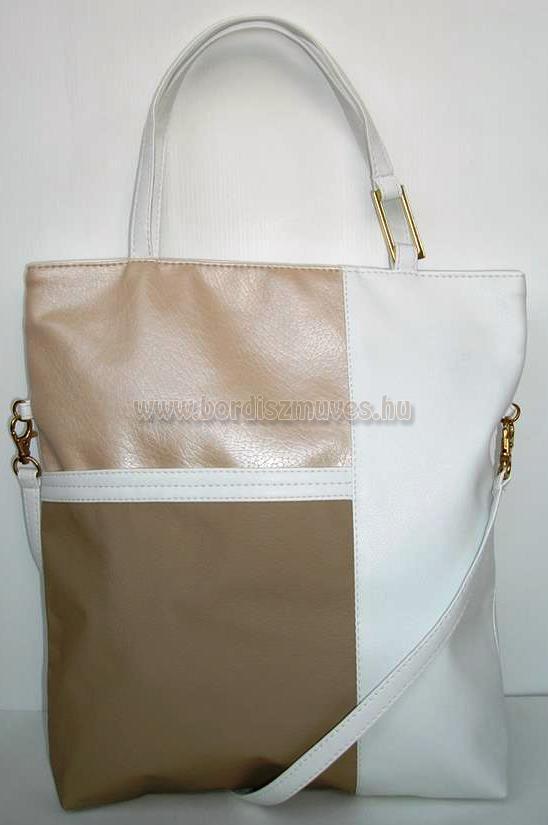 Vehrdesign, tengerész fazonú női táska, textilbőrből bőrből készíthető