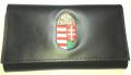 Egyedi, magyar címeres marhabőr brifkó, pincér tárca, briftasni, pincér brifkó